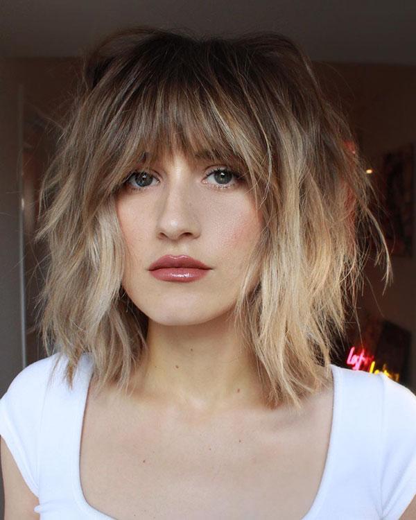 Blondes Ombre für kurzes Haar