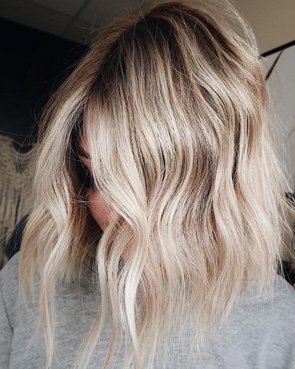 Ombre für blondes kurzes Haar