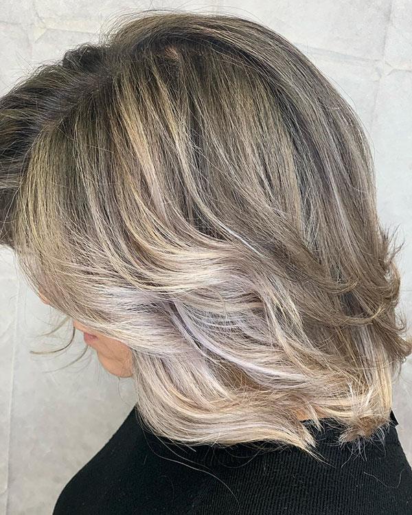 Kurze blonde Ombre Frisuren