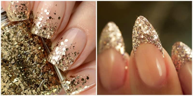 Neueste Nageltrends 2021: Glitter French Nail Design