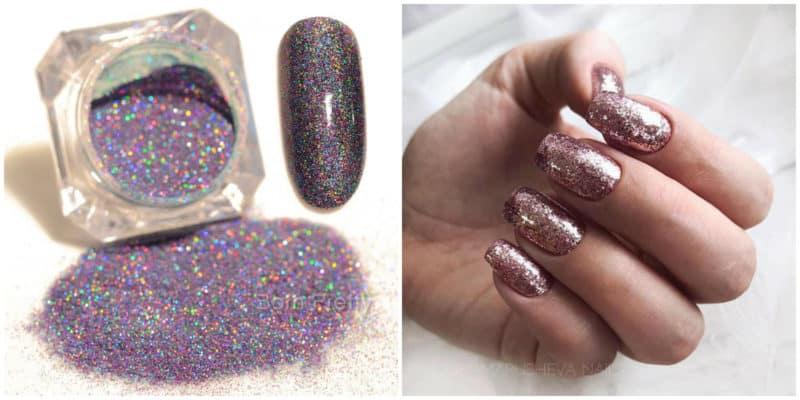 Neueste Nageltrends 2021: Glitter Nail Design Idee