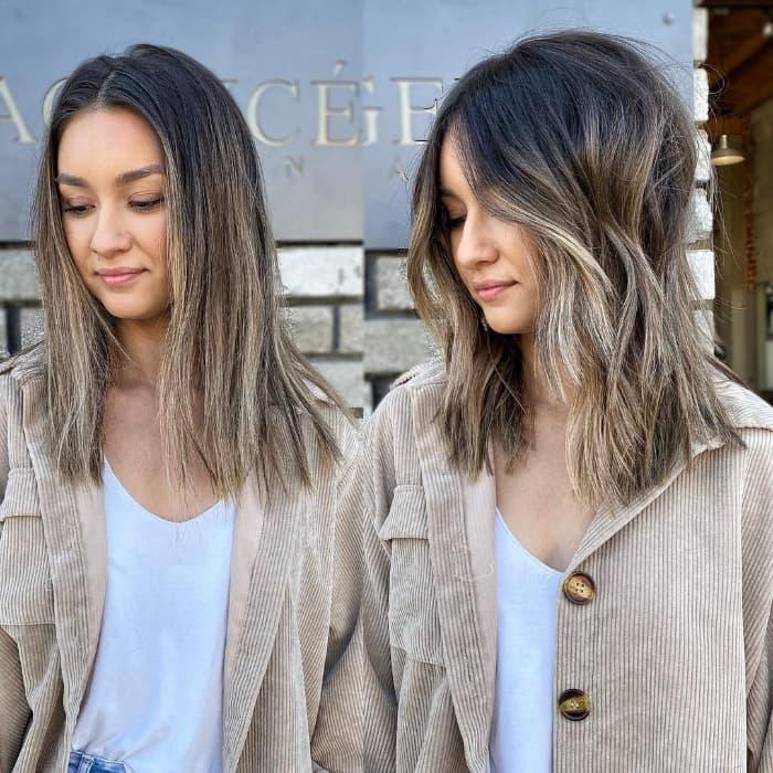 Unordentliche gerade Frisur