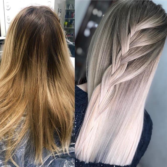 Glatt und glatt für langes Haar