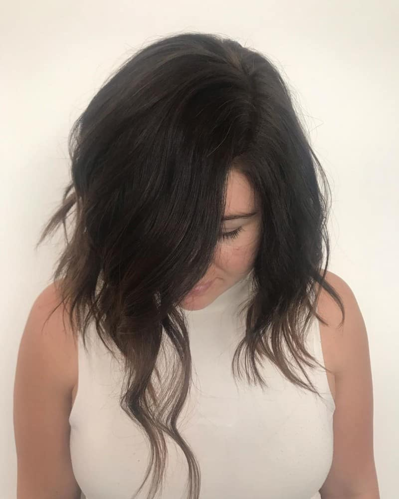 short haircuts for women 2021 asymmetrical lob