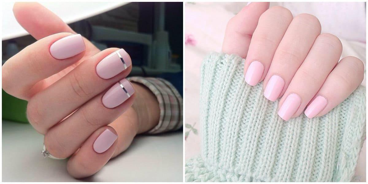 Pink Nails 2021: Nageldesign auf kurzen Nägeln: Hellrosa