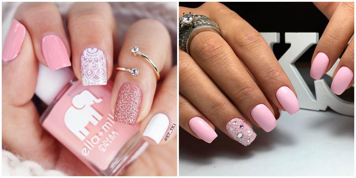 Pink Nails 2021: Pinkes Nageldesign mit Glistern