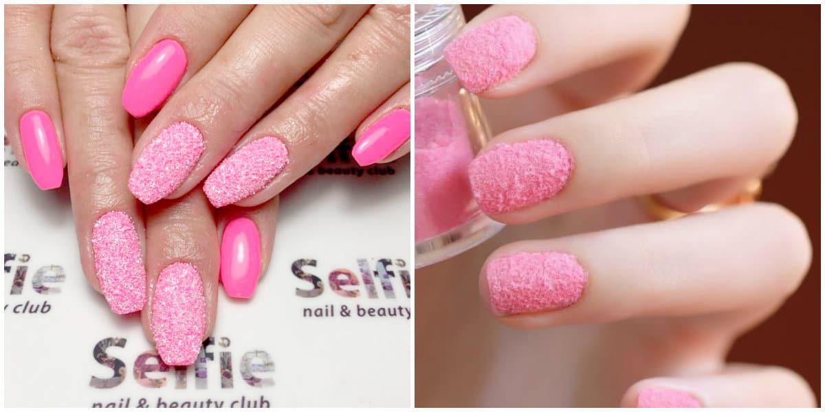 Pink Nails 2021: Pinkes Nageldesign mit Effekten