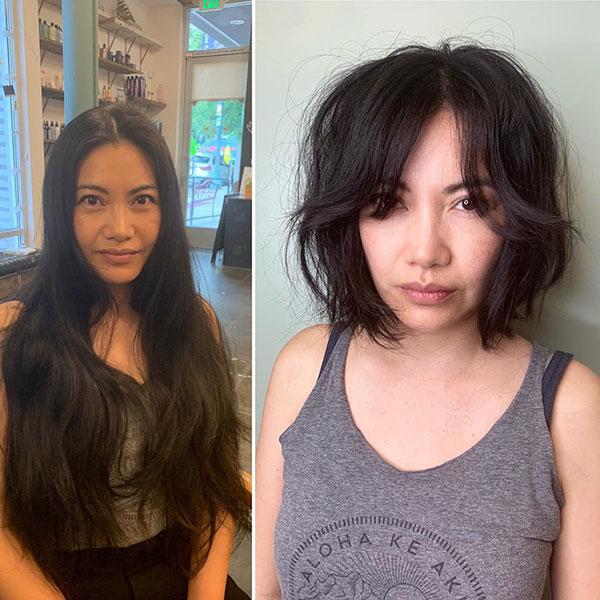 Unordentliche Frisuren für kurzes Haar