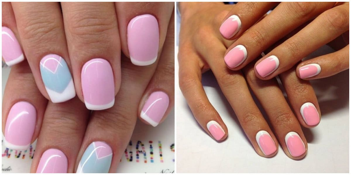French Nails 2021: Pink Base und White French: Lunar French Style
