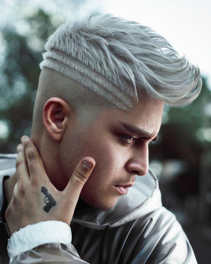 Side Shave Design Haarschnitt
