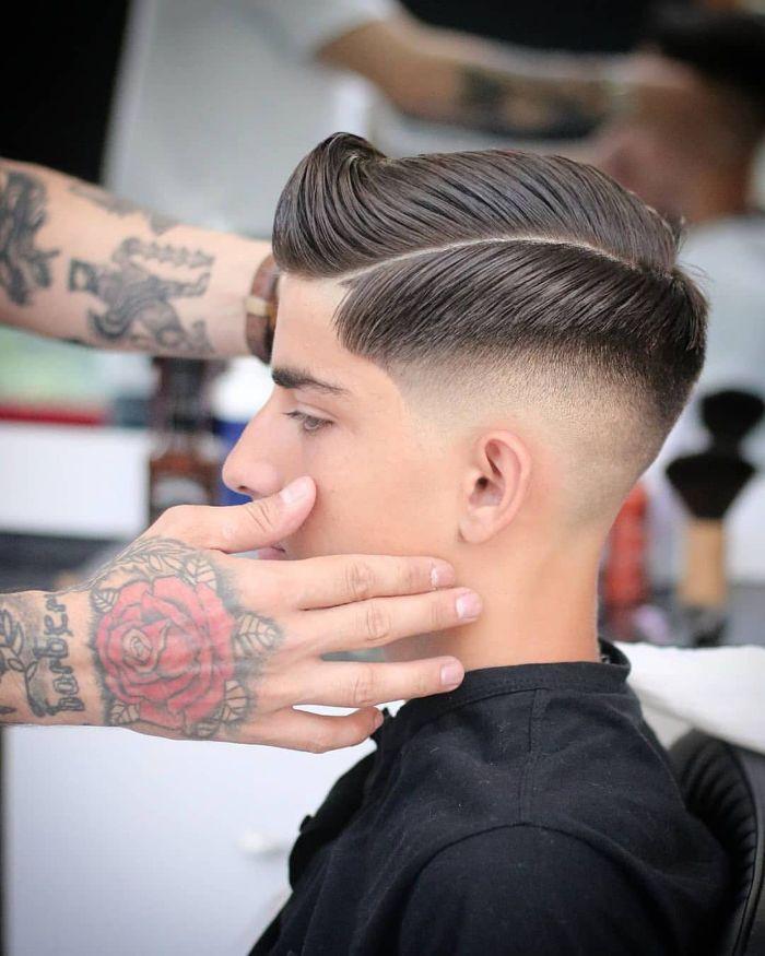 Jungen Hard Part Haarschnitt