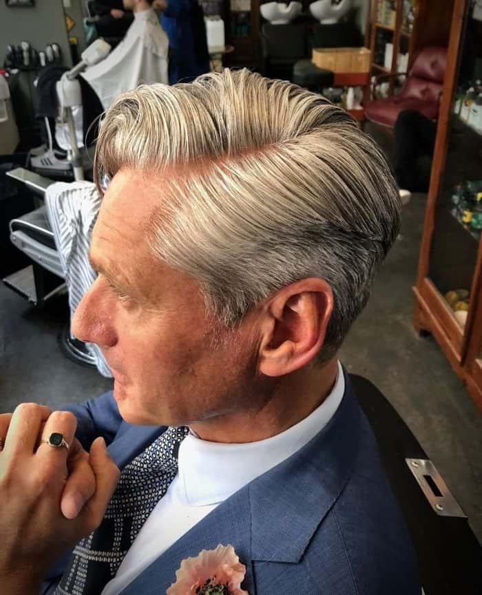 Ivy League Haarschnitt für Haarausfall