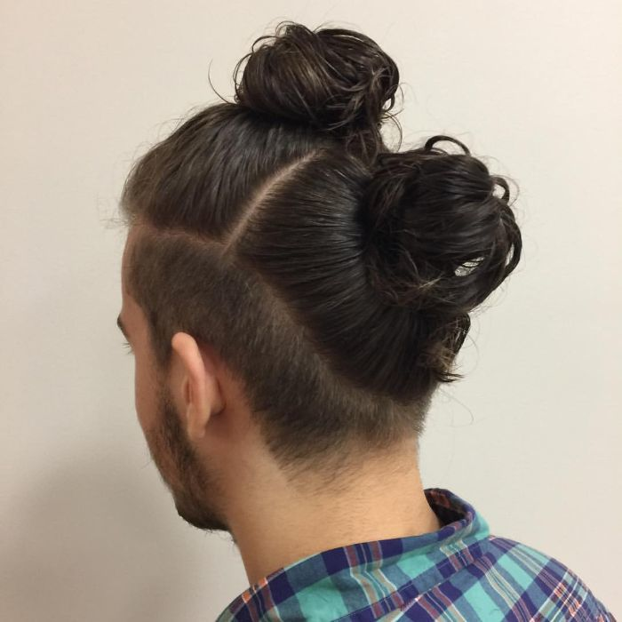 Double Man Bun