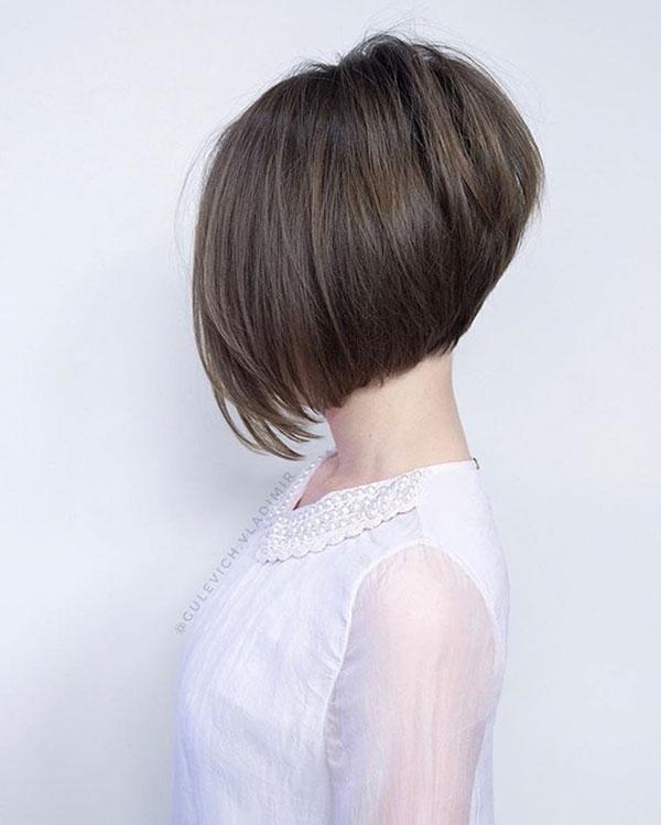 Ein Line Bob Haarschnitt