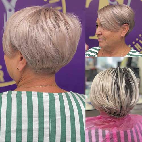 Kurze Haarschnitte für dünnes Haar über 60