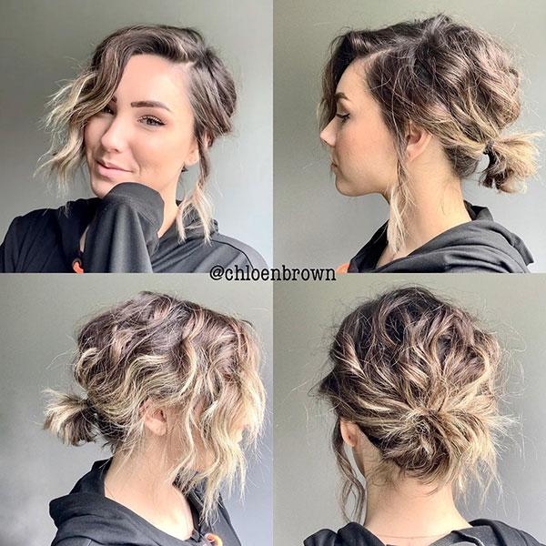 Kurze unordentliche Frisuren