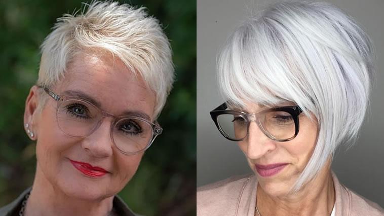 Frisuren für Frauen über 50 mit Brille in den Jahren 2021-2022