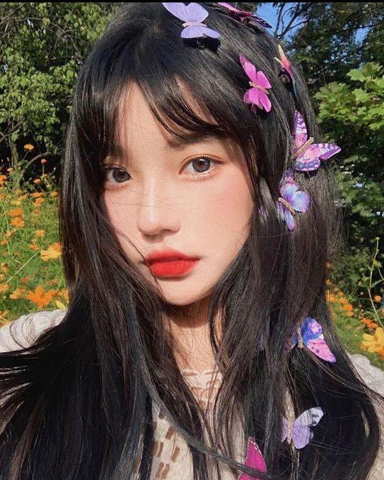 koreanische mittlere Frisuren für runde Gesichter