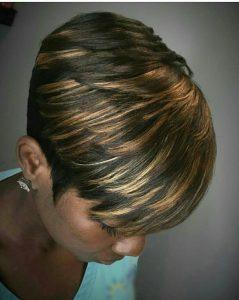 kurze Frisur