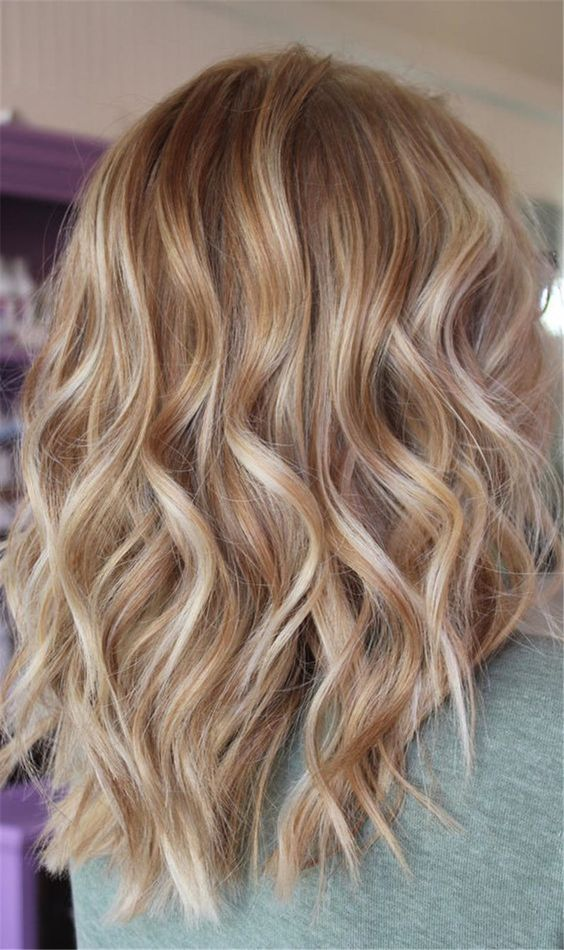 warmblonde Haarfarbe