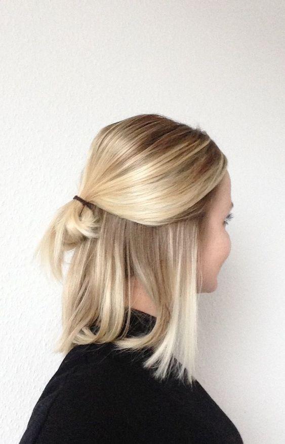 natürlich blondes Haar