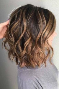 Beachy Wave Balayage Lob