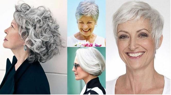Graue Frisuren für Senioren