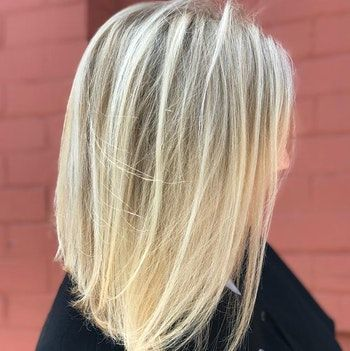 blondes balayage-glattes-haar-über-40