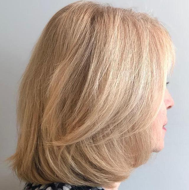 blonde Strähnen