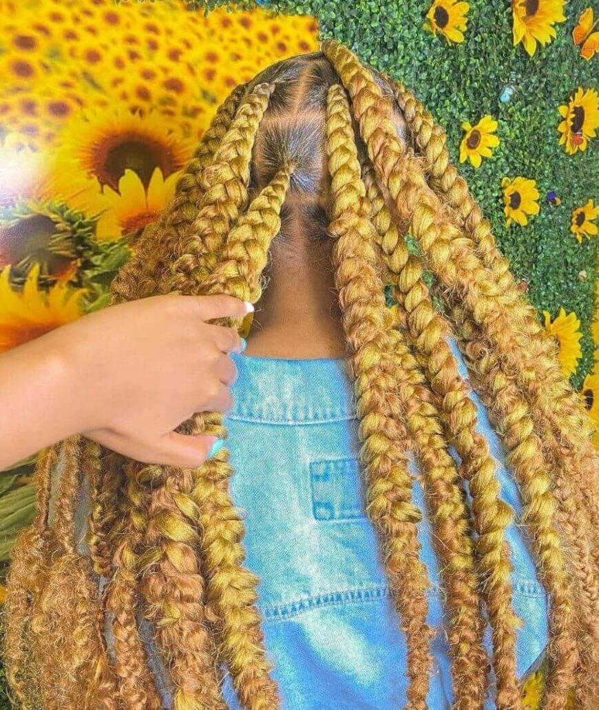 Dicke Sonnenblumengeflechte