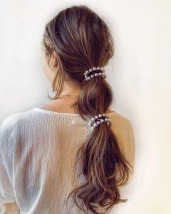 lange Perlenclips