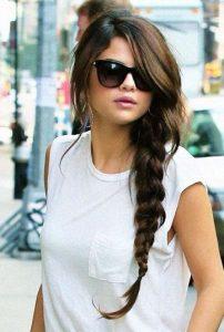 Selena langes Geflecht
