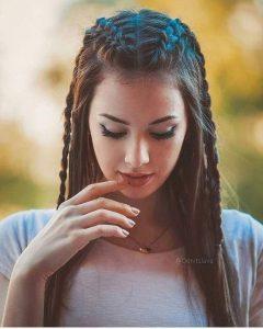 Zopfgeflecht langes Haar