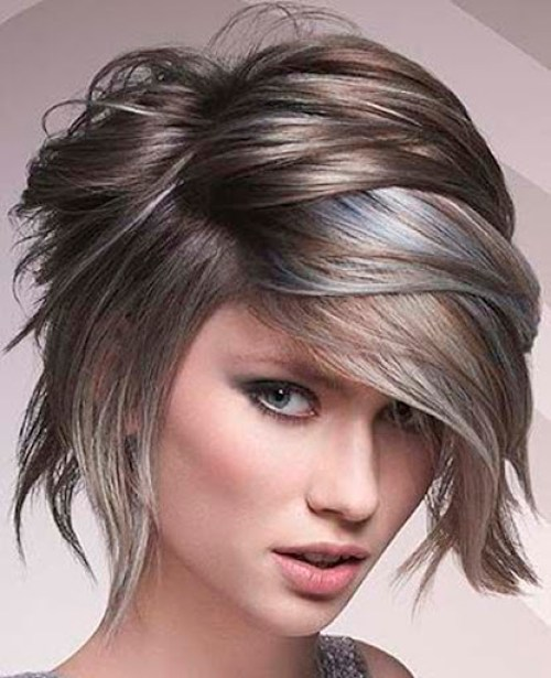Wet Look Short Layered - Kurze Frisuren 2021 weiblich