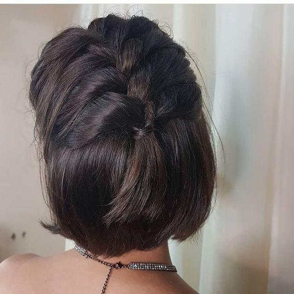 Half Braided Hairstyle 2020