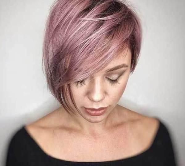 15. Thick Asymmetrical Bob -Short Hairstyles for Women 2020