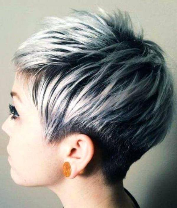 19. SILVER PIXIE HAIR -SHORT HAIRSTYLES FOR WOMEN 2020
