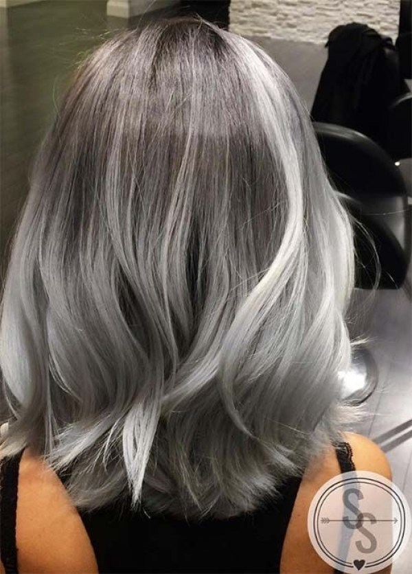Gray bob haircut women 2021