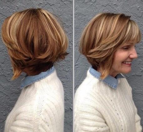 Kurze Frisuren für quadratische Gesichter über 60