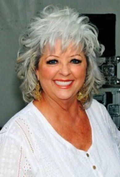 Graue Haarschnitte für fette Gesichter über 60