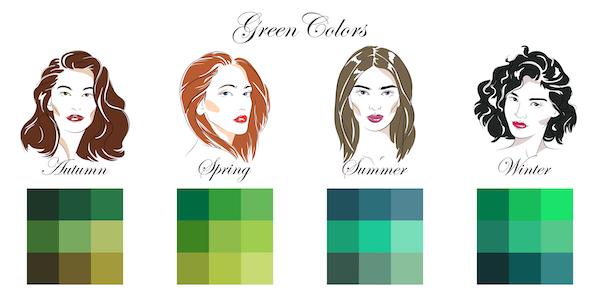 grüne Farben-kühl-warm