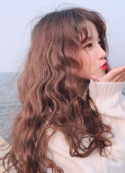 geschichtetes koreanisches langes Haar