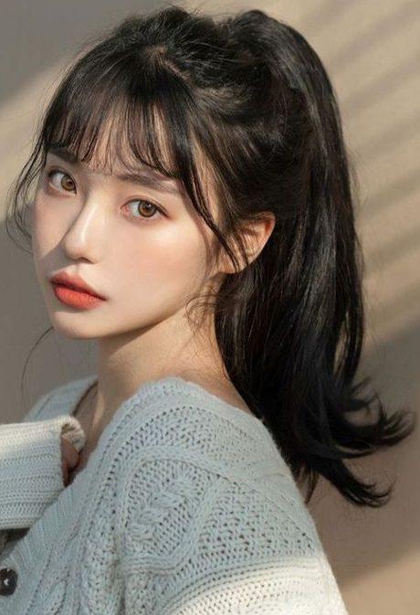 rundes Gesicht koreanisches Haar
