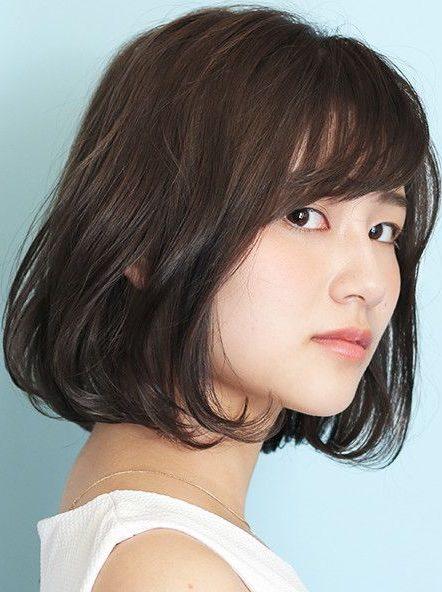 ästhetisches trendiges koreanisches schulterlanges Haar