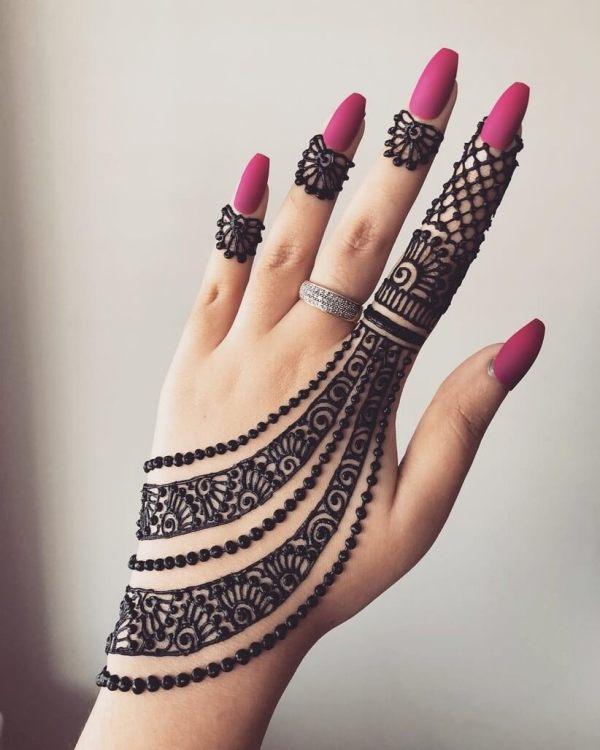 Indische Brautschmuck Nachahmung Arabisch Mehandi