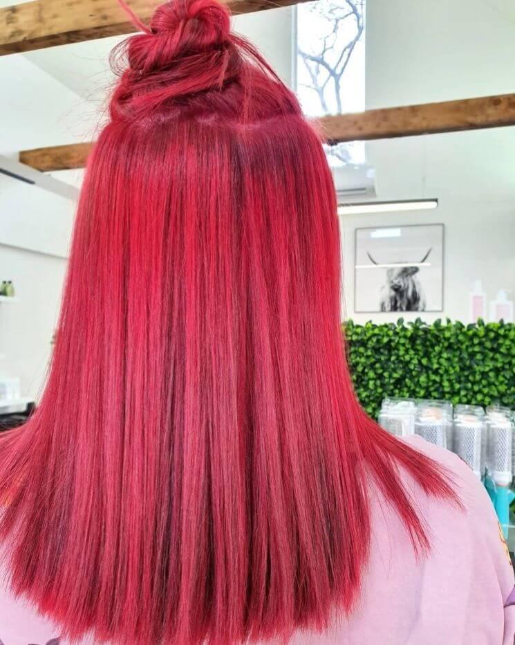 Ombre Rot Mit Haarknoten