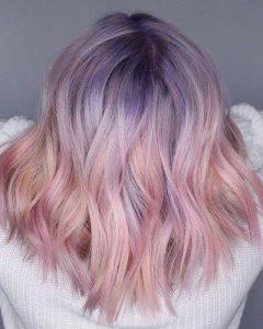 einzigartige Pastellfarben vermascht
