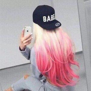 einzigartiges pinkfarbenes Ombre