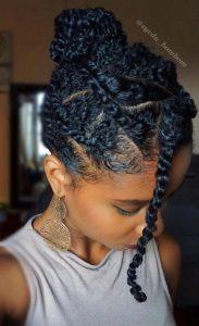 unordentlicher Haarknoten