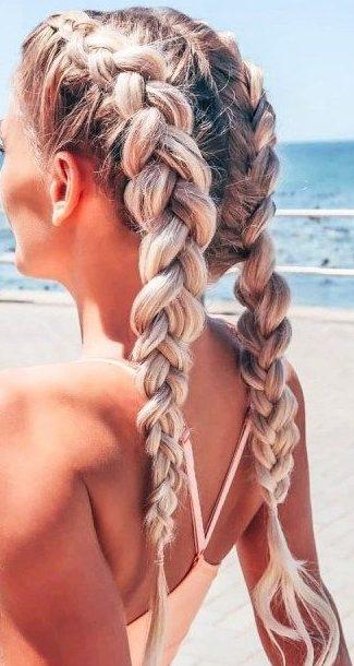 Langes Haar Geflochtene Frisuren